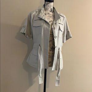 Luii Linen Blend Short Sleeve Army Jacket